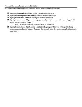 Modified/Practical Personal Narrative SBAC Rubric