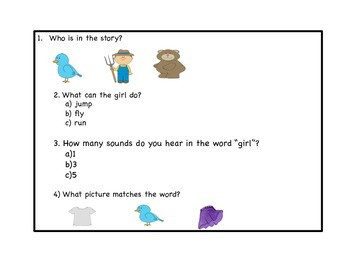 Modified R controlled vowel assessment Grade 1