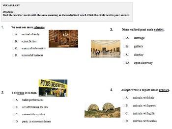 Modified Reading Street 4th Encyclopedia Brown Vocabulary Test U4W5