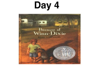 Modified Reading Street 4th grade Because of Winn Dixie interactive flipchart