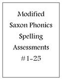 Modified Saxon Phonics Assessments