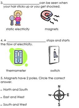 Modified Science Electricity & Magnetism; Differentiated for Special Ed