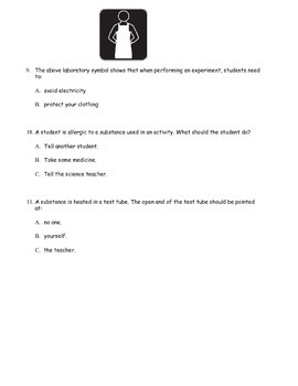 Modified Science Lab Safety Quiz