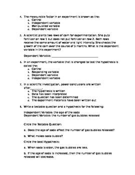 Modified Scientific Unit Exam