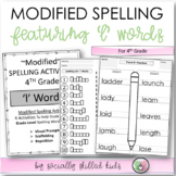 Modified Spelling Activities For 4th Grade {'l' words}