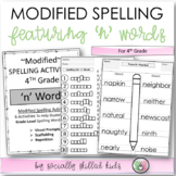Modified Spelling Activities For 4th Grade {'n' words}