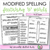 Modified Spelling Activities For 4th Grade {'o' words}