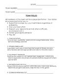 Modified Sport Ed. Team Roles