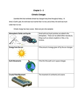 Modified Unit Section 3 : Climatic Changes