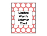 Modified Weekly Behavior Chart