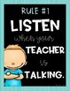 Modified Whole Brain Classroom Rules {Poster Set}