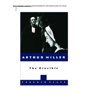 Modified version of The Crucible by Arthur Miller