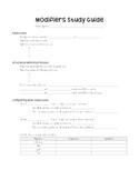 Modifiers Study Guide