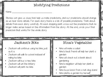 A Listening Activity about Modifying Predictions