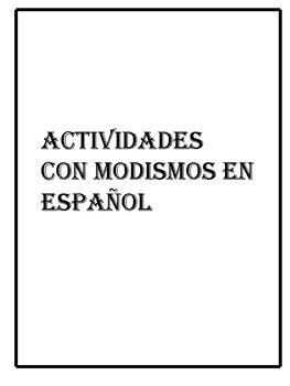 Modismos activities
