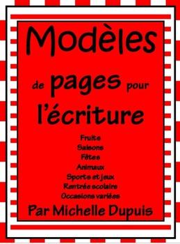 Modèles de pages pour l'écriture