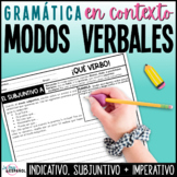 Modo Indicativo Subjuntivo Imperativo | Spanish Writing Prompts and Posters