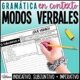 El verbo | Premisas modo indicativo subjuntivo imperativo