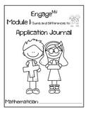 First Grade Eureka Math (Engage NY) Module 1 Application Journal