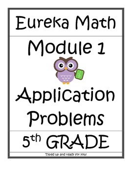 Module 1, Application Problems - ALL - Grade 5