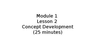 Module 1 Lesson 2 EngageNY Kinder