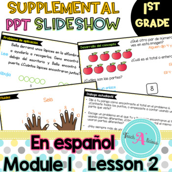 Module 1 Lesson 2  (Reason about embedded numbers using number bonds) in Spanish