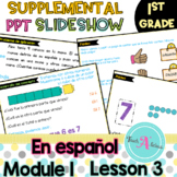Module 1 Lesson 3  (1 more within 5-groups) in Spanish