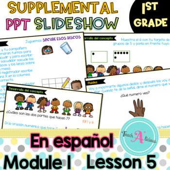 Module 1 Lesson 5  (Represent put together and Counting on to 7) in Spanish