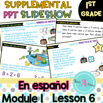 Module 1 Lesson 6  (Represent put together and Counting on to 8) in Spanish