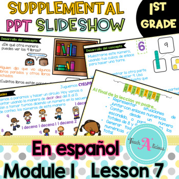 Module 1 Lesson 7  (Represent put together and Counting on to 9) in Spanish