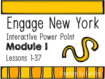 Module 1 Lessons 1-37 Engage New York Power Points Kindergarten