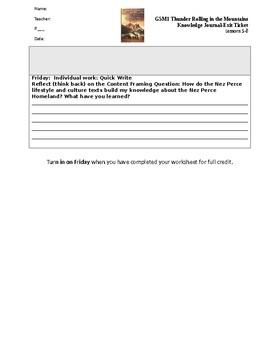 Module 1 Lessons 5-8 Exit Tickets