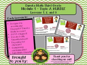 BUNDLE Module 1 Topic A Eureka Math Third Grade SmartBoard Lessons 1-3