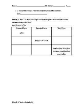 Module 1 Topic A study guide