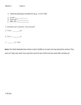 Module 1 Topics A-C Quizzes