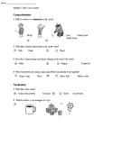 Kindergarten Module 1 Unit 1 Assessment