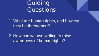 Module 1 Unit 1 Lesson 4 5th Grade Stories of Human Rights El 2nd edition