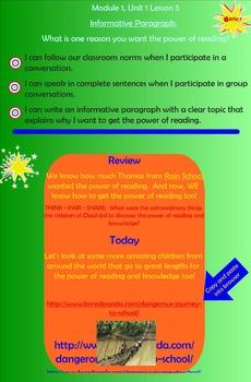 Module 1, Unit 1 Lesson 5 Informative Paragraph