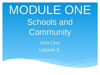 Module 1 Unit 1 Lesson 6 Schools and Community EL Education