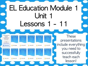 Expeditionary Learning Grade 2 M1 Unit 1 Lessons 1 - 11 Schools & Community