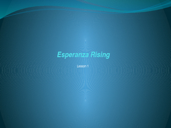 Module 1 Unit 2 Lesson 1 Esperanza Rising