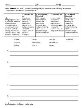 Module 1 Vocab Quiz