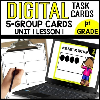 Dot Cards Write how many you see... Module 1 lesson 1 DIGITAL TASK CARDS