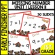 Early Finishers Activities | Missing Number | Module 1 lesson 11