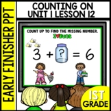Early Finishers Activities | Counting on to Find Missing #