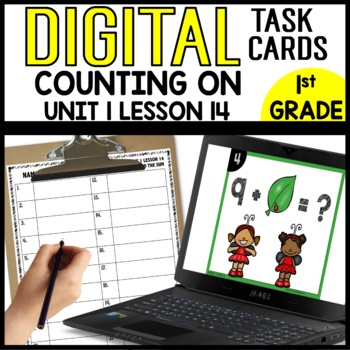 Counting on the Find the Sum DIGITAL TASK CARDS