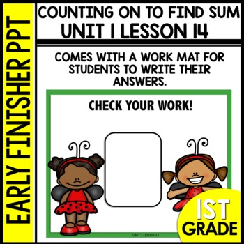 Early Finishers Activities | Counting On | Module 1 lesson 14