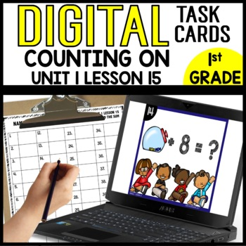 Counting on to Find the Sum DIGITAL TASK CARDS