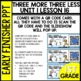 Early Finishers Activities   Three More   Three Less   Module 1 lesson 16