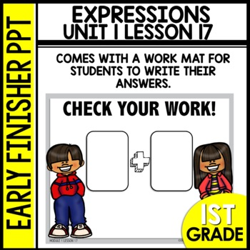 Early Finishers Activities | Writing Expressions | Module 1 lesson 17